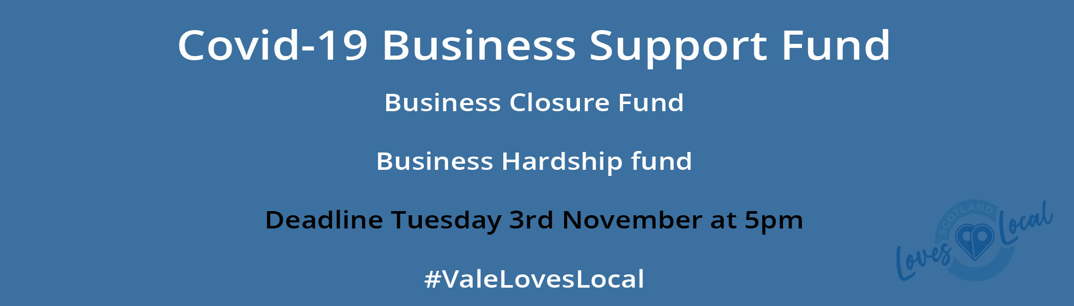Vale Loves Local COVID19 business support