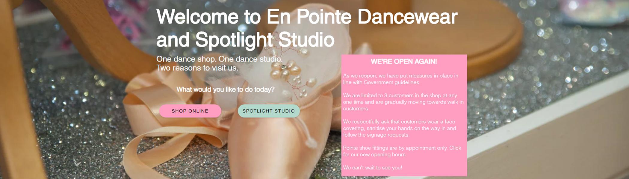En Pointe Dancewear in the Vale