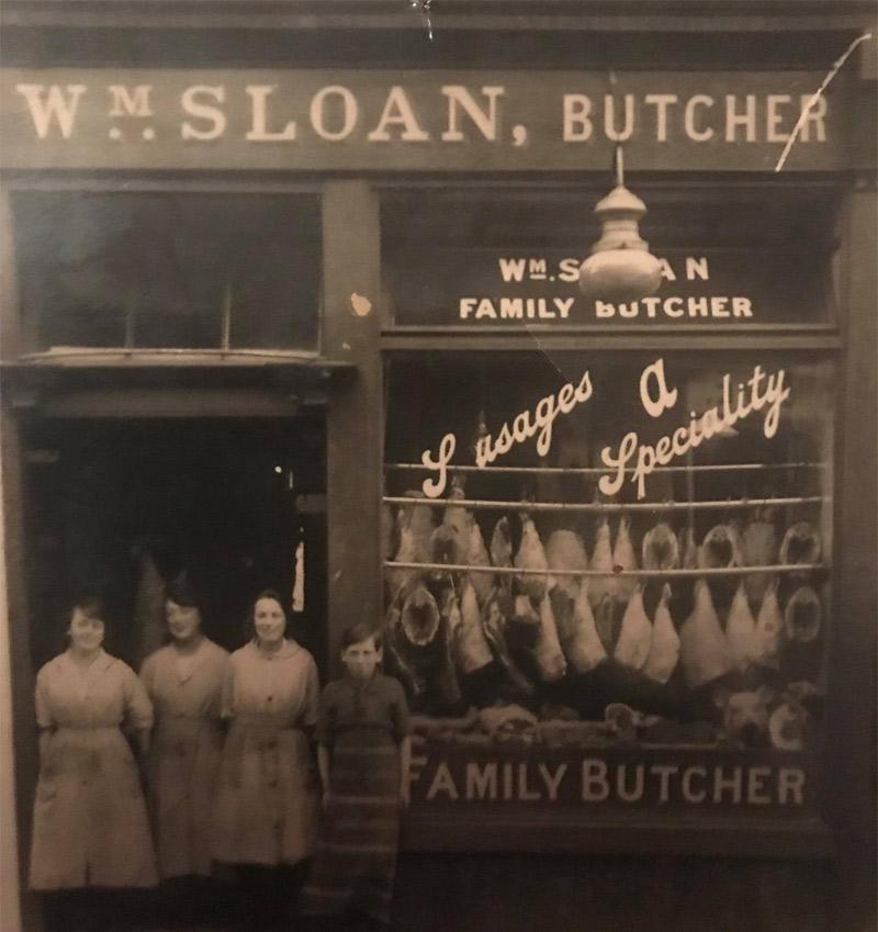 Sloans Butchers Histor yimage